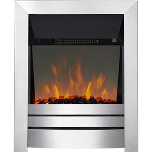 Focal Point Fires Lorient Led Reflection Inset Electric Fire - Brushed Steel