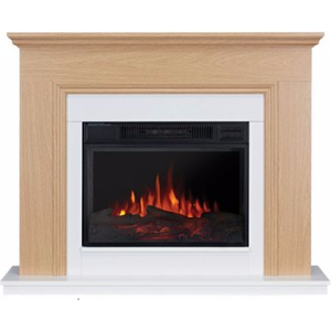 Focal Point Fires Malmesbury Led Electric Fire Suite - Oak