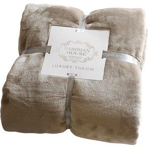 Gallery Parisian House Flannel Fleece Throw - Taupe 5055999209991