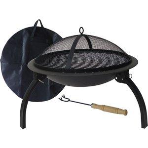 Gardeco Lucio Portable Fire Pit - Black Fb1 Fold Mo 5031599036601