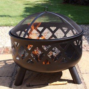 Gardeco Tara Large Fire Pit - Black 5031599044989