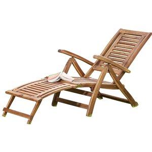 Garden Gear Acacia Folding Steamer Deck Chair G2858