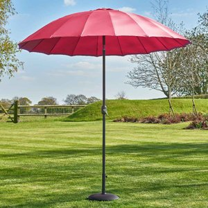 Garden Must Haves Geisha 2.7m Parasol (base Not Included) - Fuchsia 84606