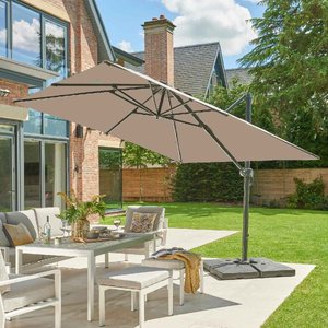 Garden Must Haves Royce Executive Cantilever Parasol (base Not Included)- Taupe 87420