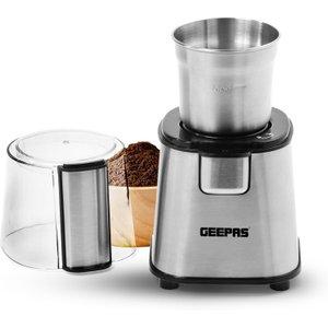 Geepas 220w Electric Coffee Grinder - Black & Silver Gcg41011uk 6294015511628