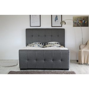 Gia Usb Ottoman Double Bed Frame - Grey  5057289854195
