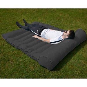 Glendale Double Outdoor Floor Cushion - Black  5031751029694
