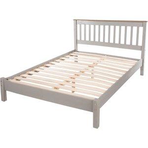 Halea 4'6'' Pine Double Bed Frame - Grey Crg460le 5017839028858