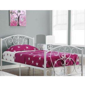 Hallie Single Bed Frame - White  5057289855444