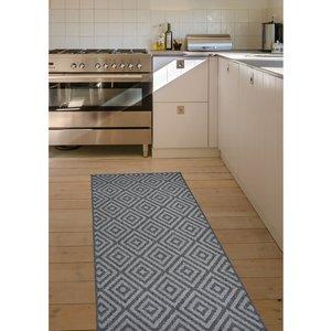Homemaker Diamond Runner Rug - Black 5053095168600