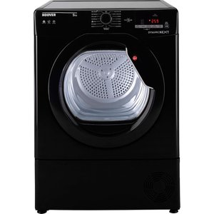 Hoover Dynamic Next Dxc9dgb 9kg Nfc Condenser Tumble Dryer - Black With Black Glass Door 8016361944350