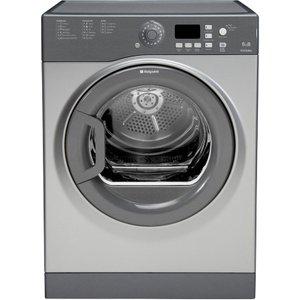 Hotpoint Aquarius Ftvfg65bgg Vented Tumble Dryer 6kg - Graphite 5016108889855
