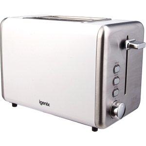 Igenix Ig3000w 2-slice Stainless Steel Toaster - White 5016368069264