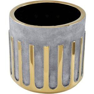 Interiors By Premier Large Ceramic Planter - Grey/gold Base 5505862