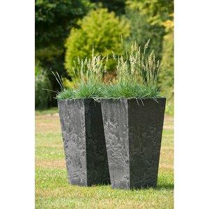 Ivyline Artstone Ella Plastic Vase 70cm - Black 107822