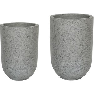 Ivyline Catania Terrazzo Set Of 2 Vases - Grey Cgtvs2