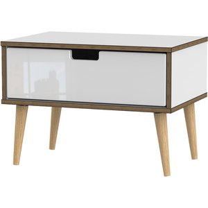 Jeoka 1-drawer Bedside Cabinet - White
