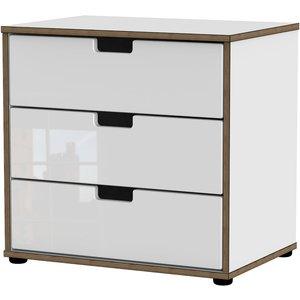 Jeoka 3-drawer Chest - White