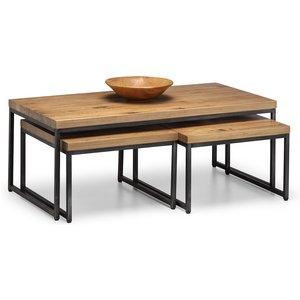 Julian Bowen Brooklyn Oak Nesting Coffee Tables Bro004