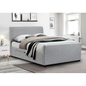 Julian Bowen Capri Fabric Bed With Drawers Light Grey 150cm Cap002