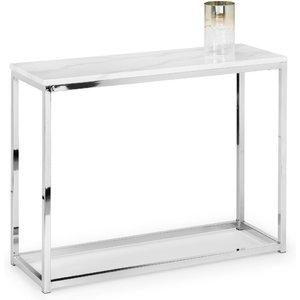Julian Bowen Scala Console Table - White Marble Sca104