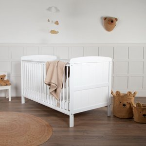 Juliet Cot Bed With Cuddleco Harmony Sprung Mattress White Cam/cud/846726