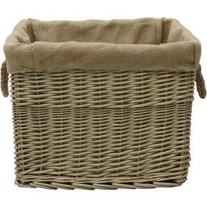 Jvl Lined Log Basket - Antique Wash 16 001