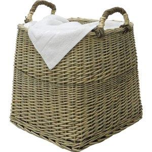 Jvl Square Log Basket - Antique Wash 16 007