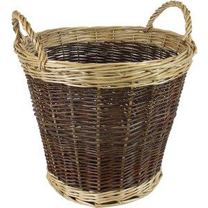 Jvl Two Tone Willow Log Basket 39 X 30 Cm