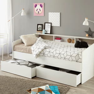Kids Avenue Day Bed With Storage - White  3480940248309