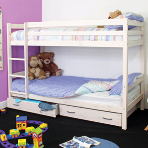 Kids Avenue Solid Pine Bunk Bed With Storage Drawers  791943553769