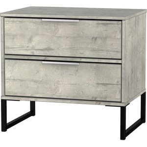 Kishara Ready Assembled 2-drawer Bedside Cabinet - Stone  5056071011969