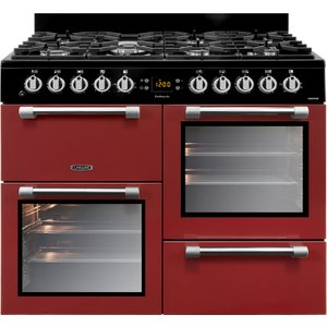Leisure Ck100f232r 100cm Cookmaster Dual Fuel Range Cooker - Red 5023790031639