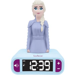 Lexibook Disney Frozen Ii Night Light Radio Alarm Clock