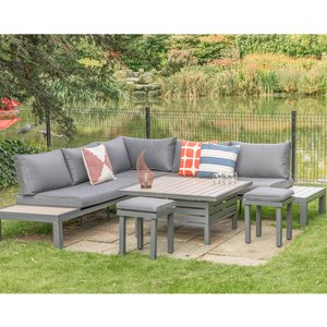 Lg Outdoor Milano Modular Dining Set With Footstools Mlo/set6