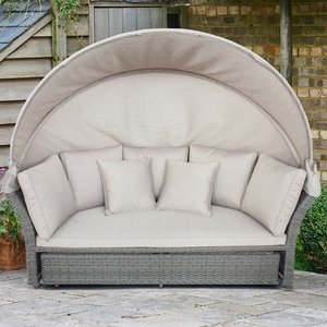 Lg Outdoor Monaco Stone Daybed Mst/set13rd