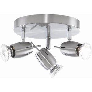 Litecraft 4 Way Adjustable Spiral Spotlight - Satin Nickel  5020024104541