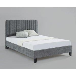 Livingstone Fabric Double Bed Grey Lividougre