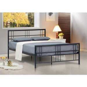 Luna Small Double Bed Frame - Black  5057289855062
