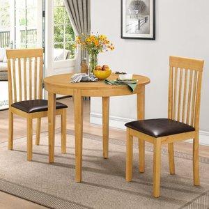 Lunar Dining Set With 2 Chairs Oak Lunadsoak