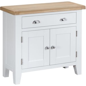 Madera Ready Assembled Small Wooden Sideboard - White Tt Sms W 5060516932320