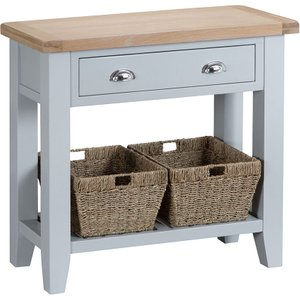 Madera Wooden Console Table - Grey Tt Con G 5060516932856