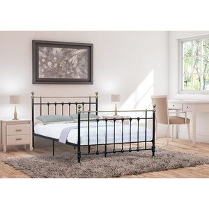 Madison Small Double Bed Frame - Black 5057289855284