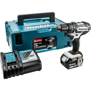 Makita Dhp482t1jw 18v Lxt Lithium Combi Drill With Charger And Makpac Stackable Carry Case