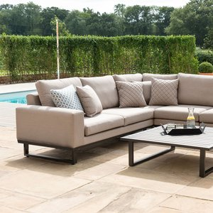Maze Rattan Ethos Corner Sofa Set - Taupe  5056005617540