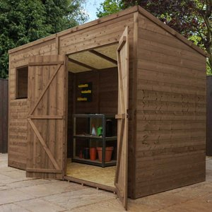 Mercia Pressure Treated Pent Shed - 10' X 6'  5029442089409