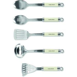 Morphy Richards Accents 5-piece Kitchen Tool Set - Cream  5011832057693