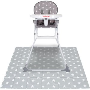My Babiie Highchair Splash Mat - Grey Stars Mbsmgs