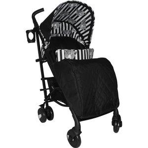 My Babiie Monochrome Leopard Stroller - Black Ybcor11