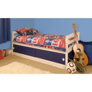 Olaine Single Storage Bed - Blue
